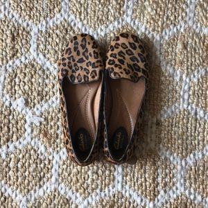 Clark's leopard print loafers